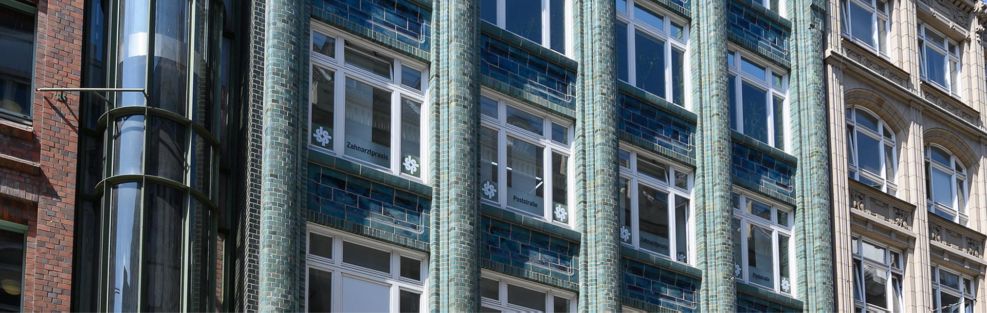 Außenansicht Zahnarztpraxis Hamburg Innenstadt - Zahnarztpraxis Poststraße