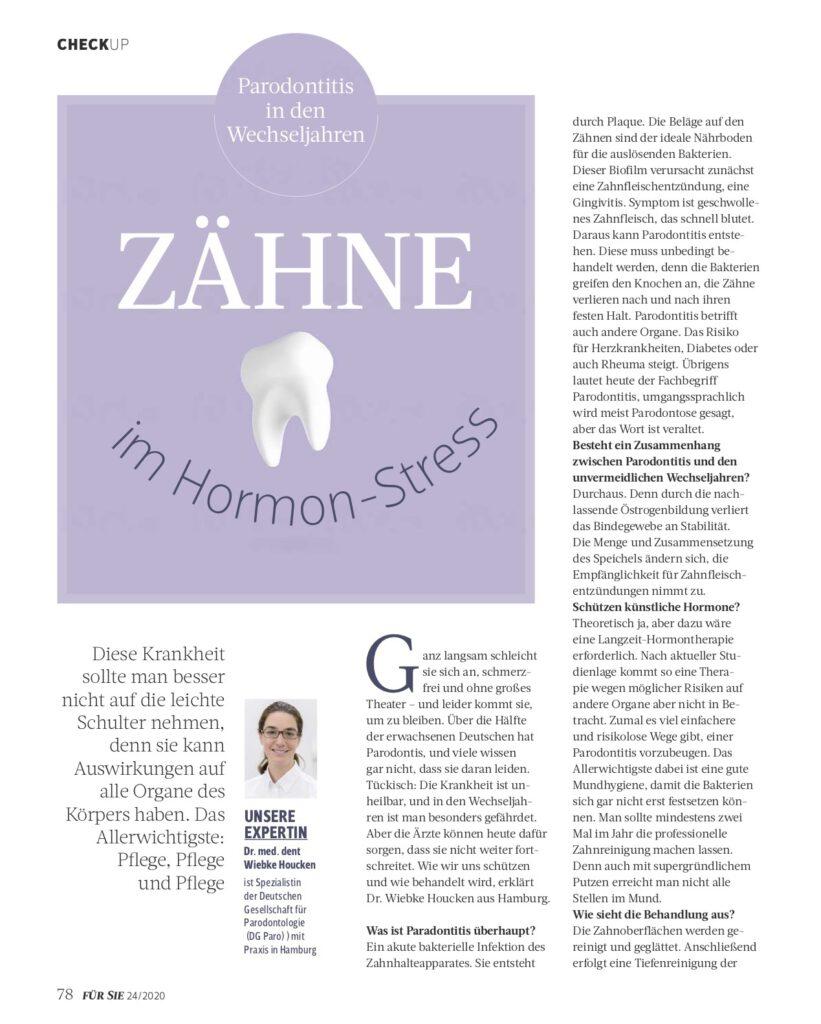 """Interview in """"Für Sie"""" mit Wiebke Houcken"""