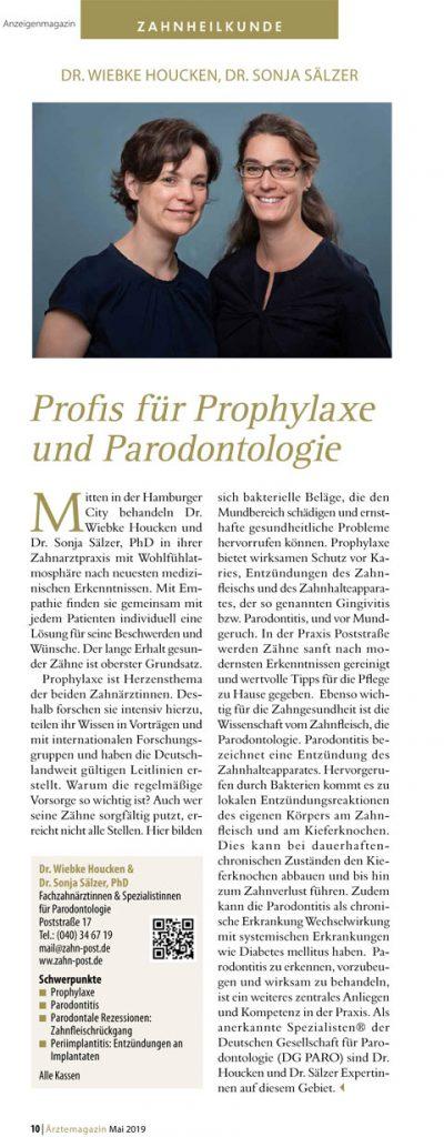 Presseartikel zu Dr. Sonja Sälzer und Dr. Wiebke Houcken